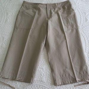 Womens Danskin Now Crop Pants Barley Color Size XL